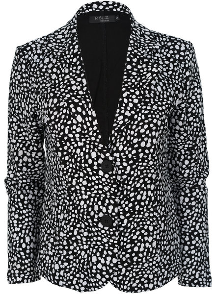 Rebelz Collection Blazer Lien zwart/wit