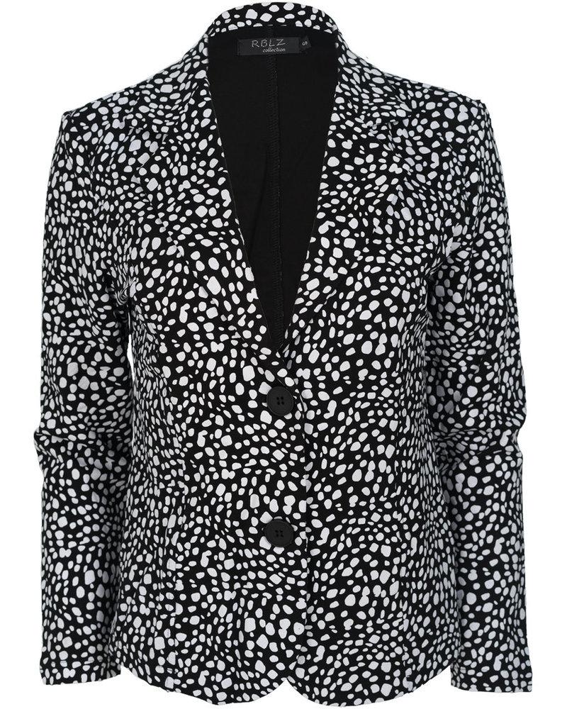 Rebelz Collection Blazer Lien zwart/wit