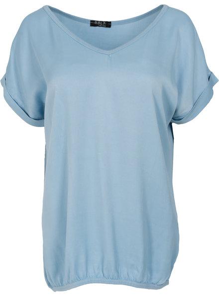Rebelz Collection Shirt Mia v hals babyblauw