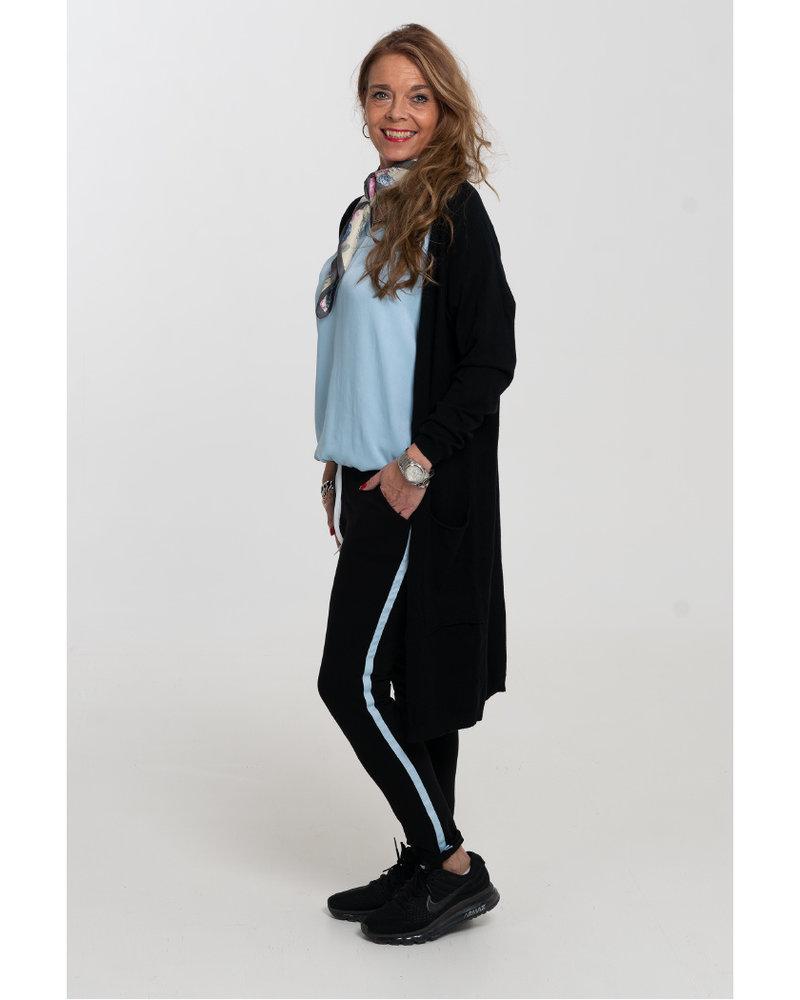 Gemma Ricceri Joggingbroek Irma zwart/lichtblauw