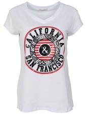 Gemma Ricceri Shirt California wit/rood