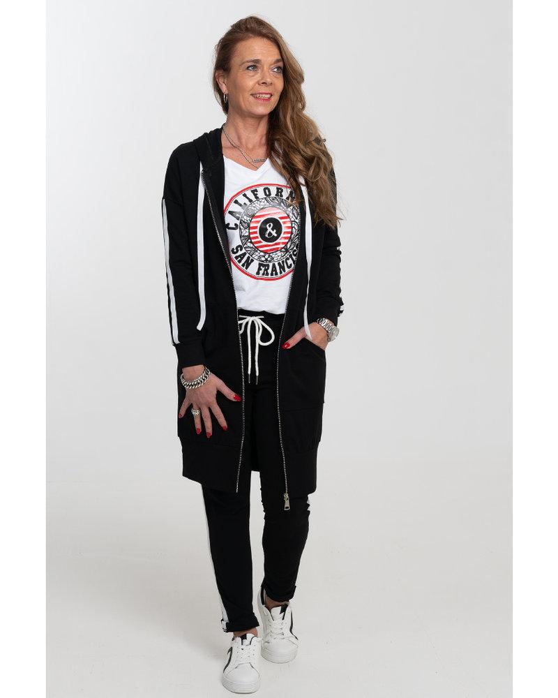 Gemma Ricceri Joggingbroek Irma zwart/wit