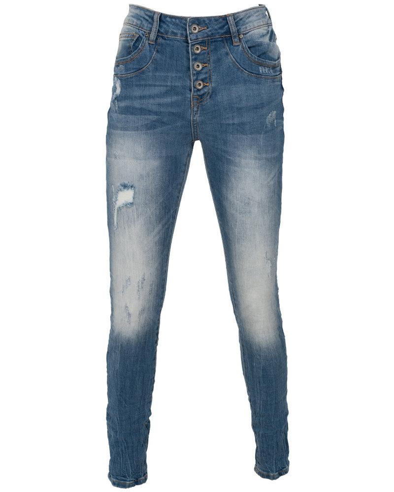Gemma Ricceri Jog jeans Maja damaged blauw