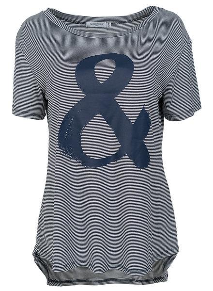 Gemma Ricceri Shirt Kati streep blauw/wit