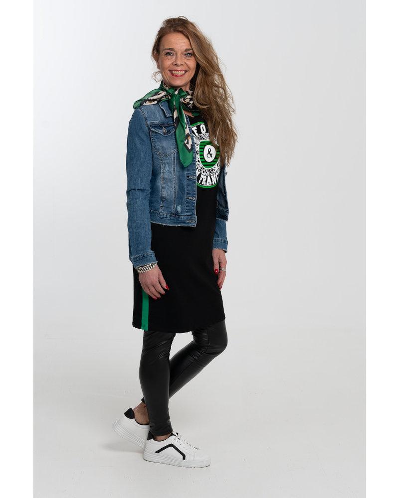 Gemma Ricceri Jurk California zwart/groen