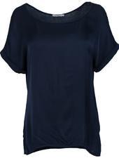 Gemma Ricceri Shirt silk touch donkerblauw