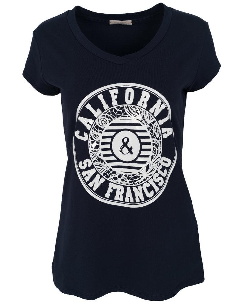 Gemma Ricceri Shirt California blauw/wit