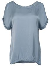 Gemma Ricceri Shirt silk touch jeansblauw