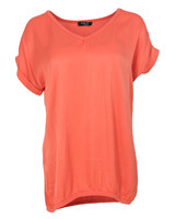 Rebelz Collection Shirt Mia v-hals oranje