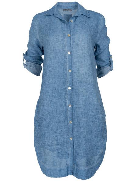 Gemma Ricceri Blouse linnen Nora jeansblauw