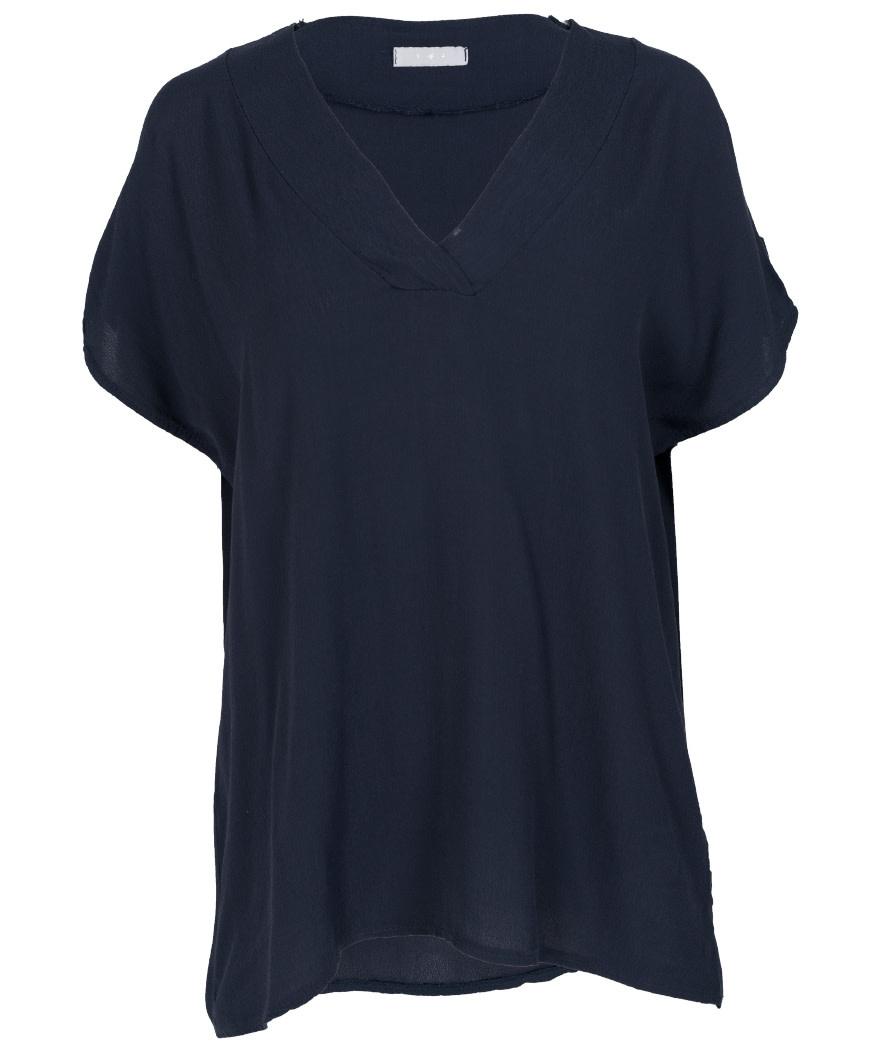 Gemma Ricceri Shirt V-hals Macy donkerblauw