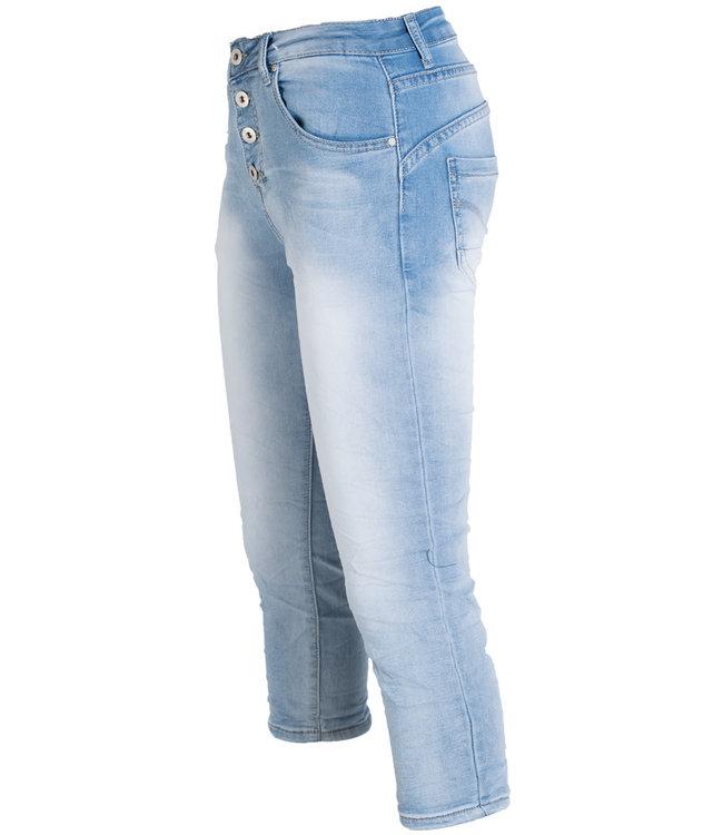 place du Jour Jog jeans capri Manon lichtblauw