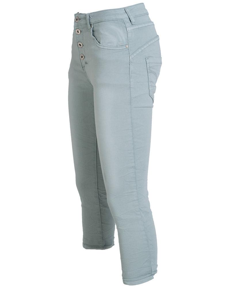 place du Jour Jog jeans capri Manon mintgroen