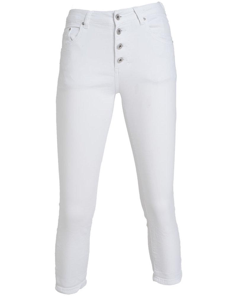 place du Jour Jog jeans capri Manon wit