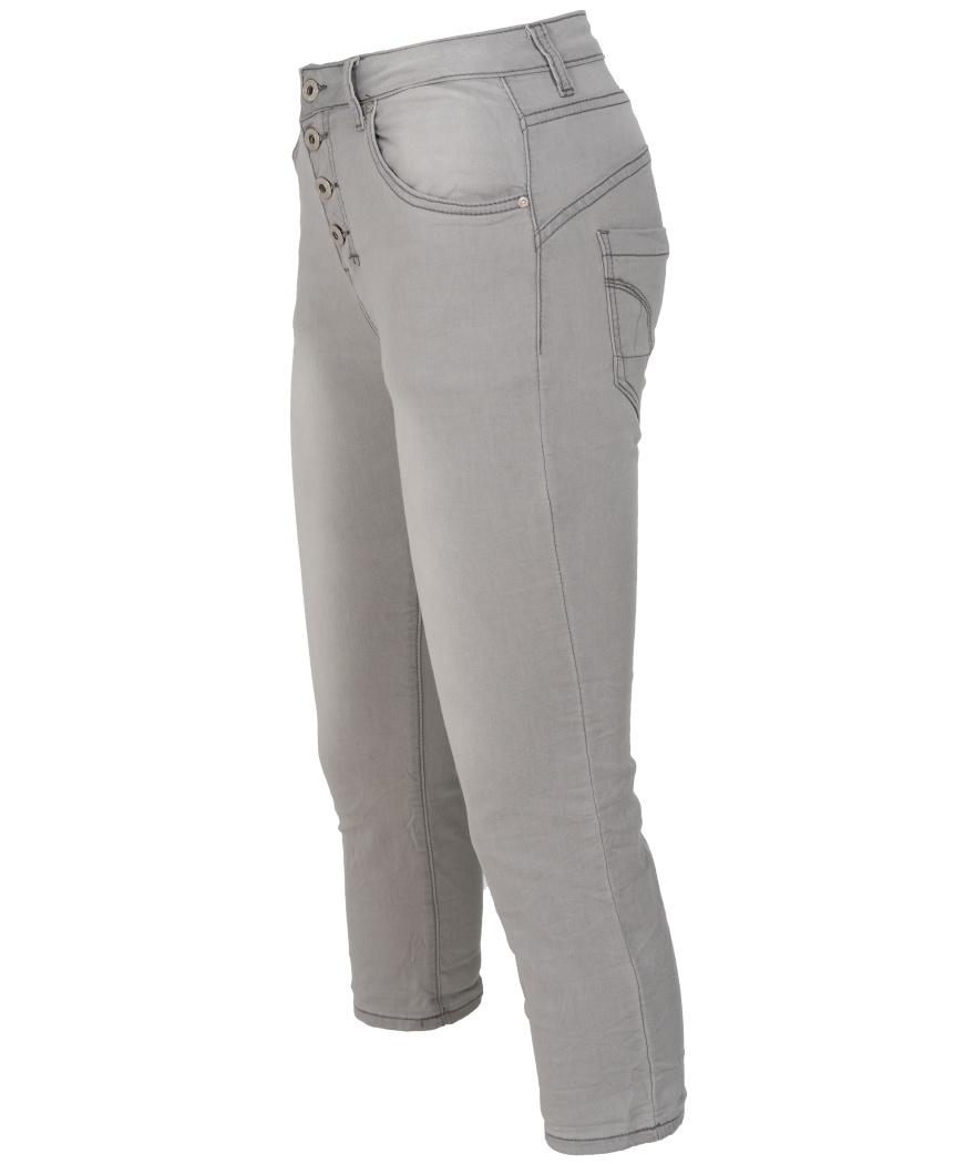 place du Jour Jog jeans capri Manon grijs