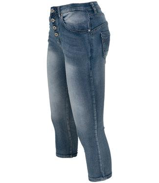 place du Jour Jog jeans capri Manon donkerblauw