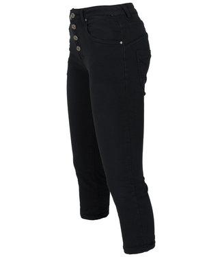 place du Jour Jog jeans capri Manon zwart