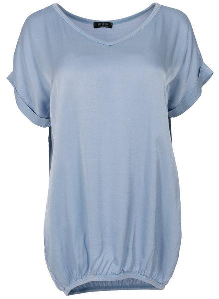 Rebelz Collection Shirt Mia v hals blauw