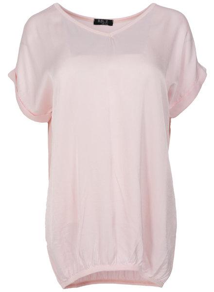Rebelz Collection Shirt Mia v hals babyroze