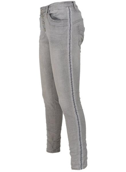 place du Jour Jog jeans Elesta damaged grijs