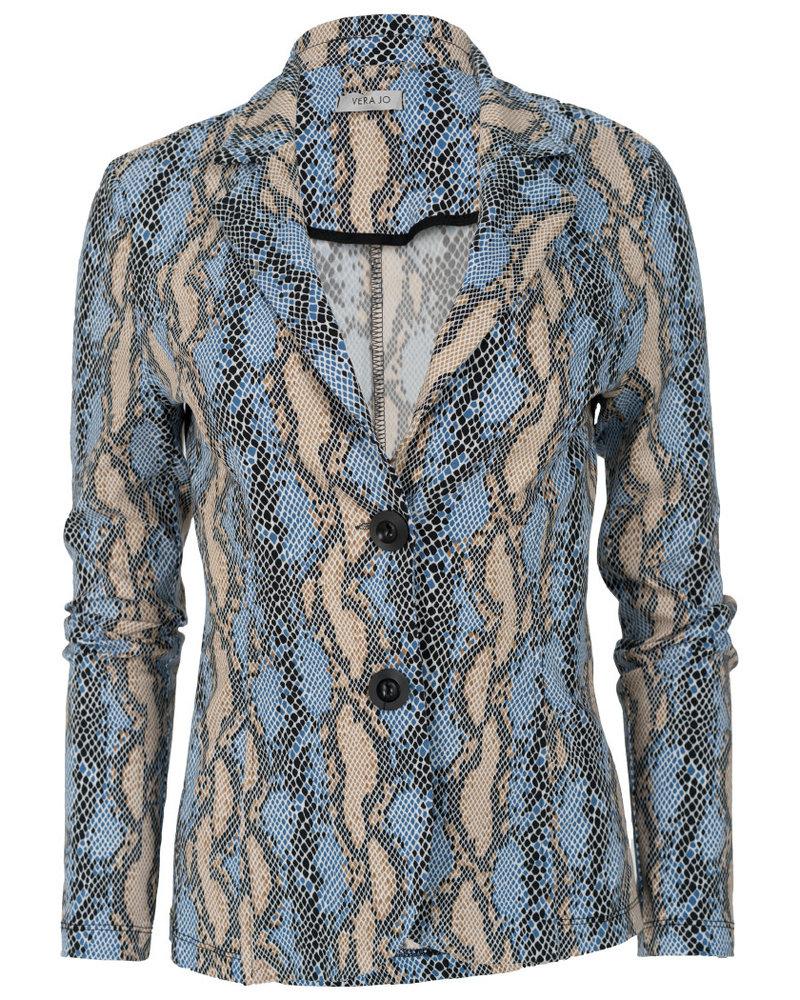 Gemma Ricceri Blazer snake print lichtblauw
