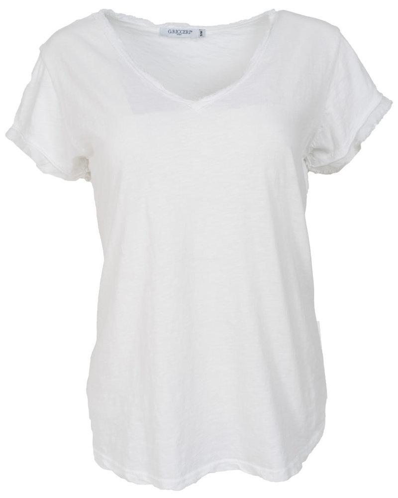 Gemma Ricceri Shirt Jenn basic wit
