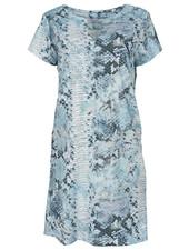 Gemma Ricceri Jurk Rosie snake print lichtblauw