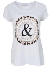 Gemma Ricceri Shirt Belle wit/camel