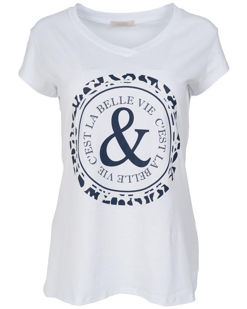 Gemma Ricceri Shirt Belle wit/blauw