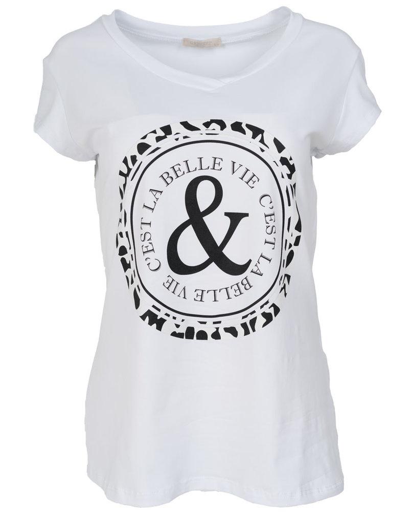 Gemma Ricceri Shirt Belle wit/zwart