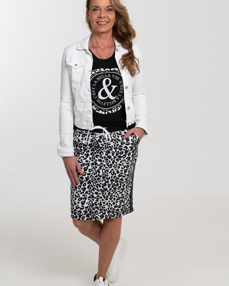 Gemma Ricceri Rok Limited panterprint wit/zwart