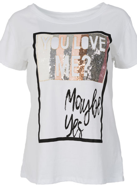 Gemma Ricceri Shirt maybe yes wit/zalm