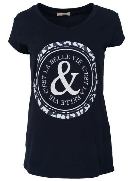 Gemma Ricceri shirt Belle blauw/wit