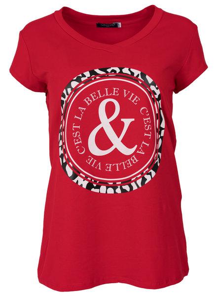 Gemma Ricceri Shirt Belle rood/wit