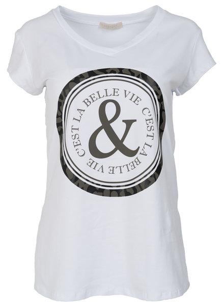 Gemma Ricceri Shirt Belle wit/groen