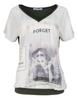 Gemma Ricceri Shirt Rowee v hals wit/groen