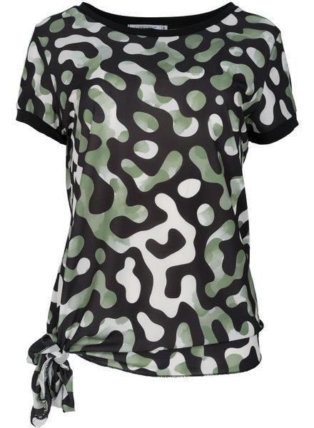 Gemma Ricceri Shirt Lonneke zwart/groen