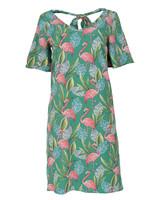 Rebelz Collection Jurk Flamingo groen/roze