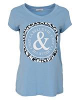 Gemma Ricceri Shirt Belle lichtblauw/wit