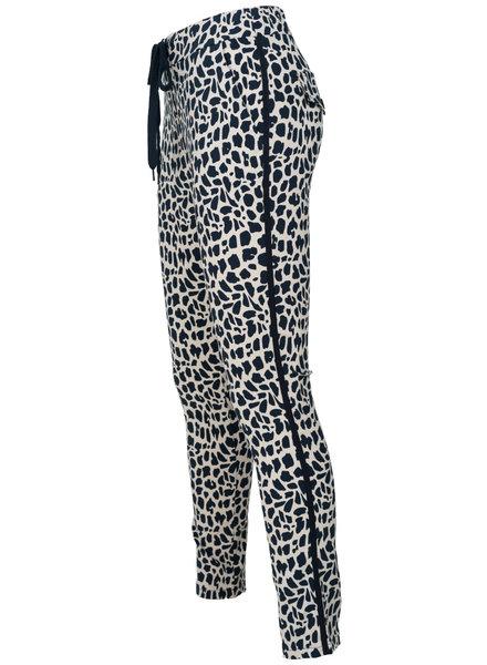 Vera Jo Pantalon panterprint Duna wit/blauw