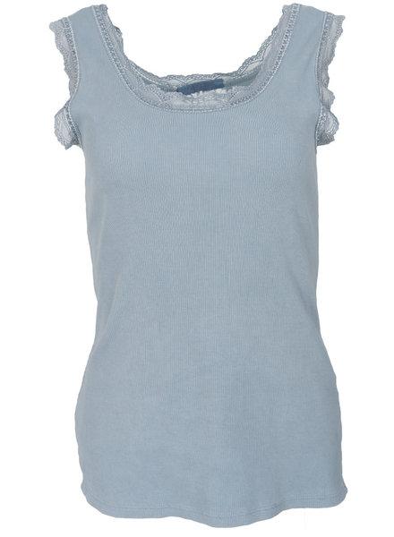 Gemma Ricceri Top kant jeansblauw