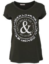 Gemma Ricceri Shirt Belle groen/wit