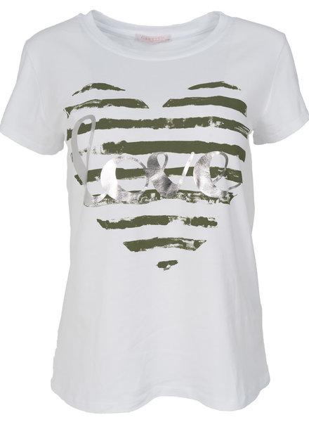 Gemma Ricceri Shirt Mody wit/groen
