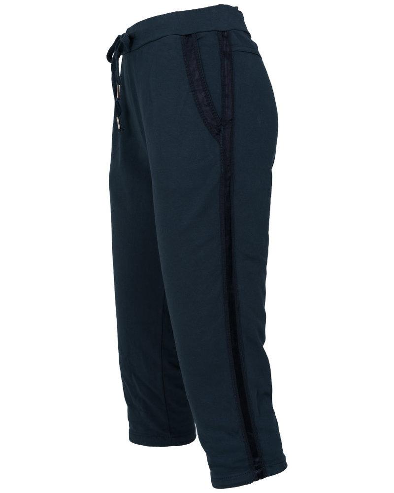 Gemma Ricceri Capri joggingstof Tessa blauw