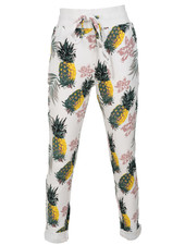Rebelz Collection Joggingbroek Pine wit/geel
