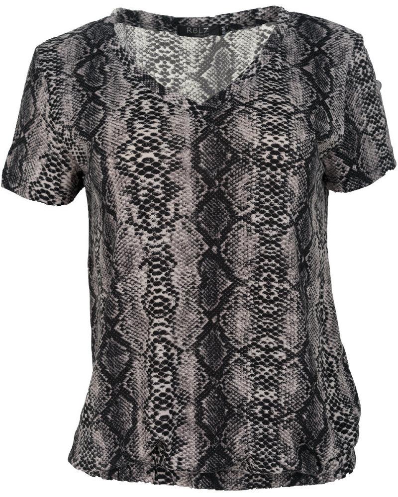 Rebelz Collection Shirt snakeprint grijs