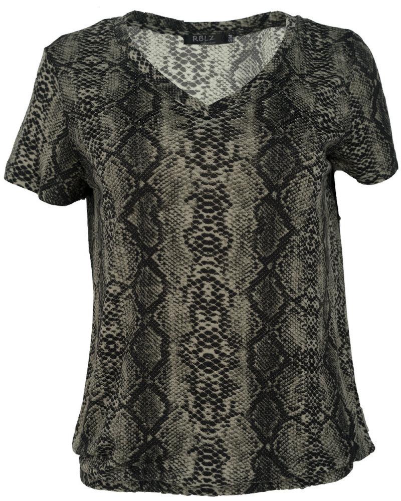 Rebelz Collection Shirt Snakeprint groen
