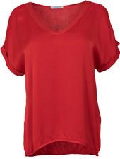 Gemma Ricceri Shirt silk touch v hals rood