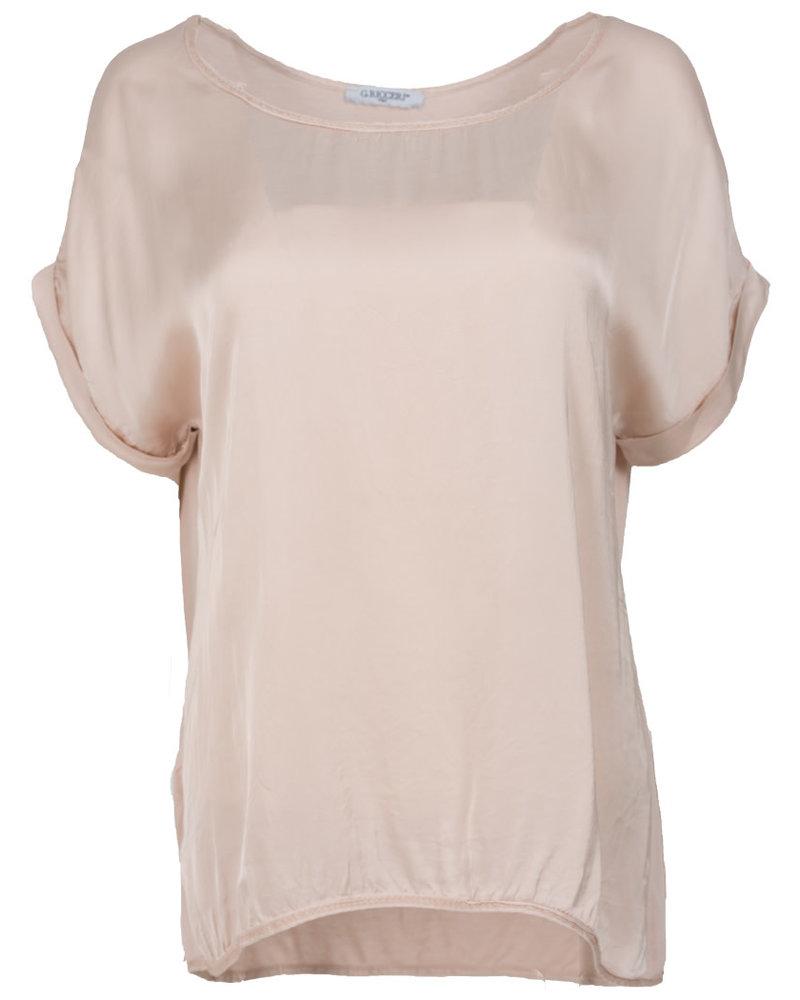 Gemma Ricceri Shirt silk touch zalm