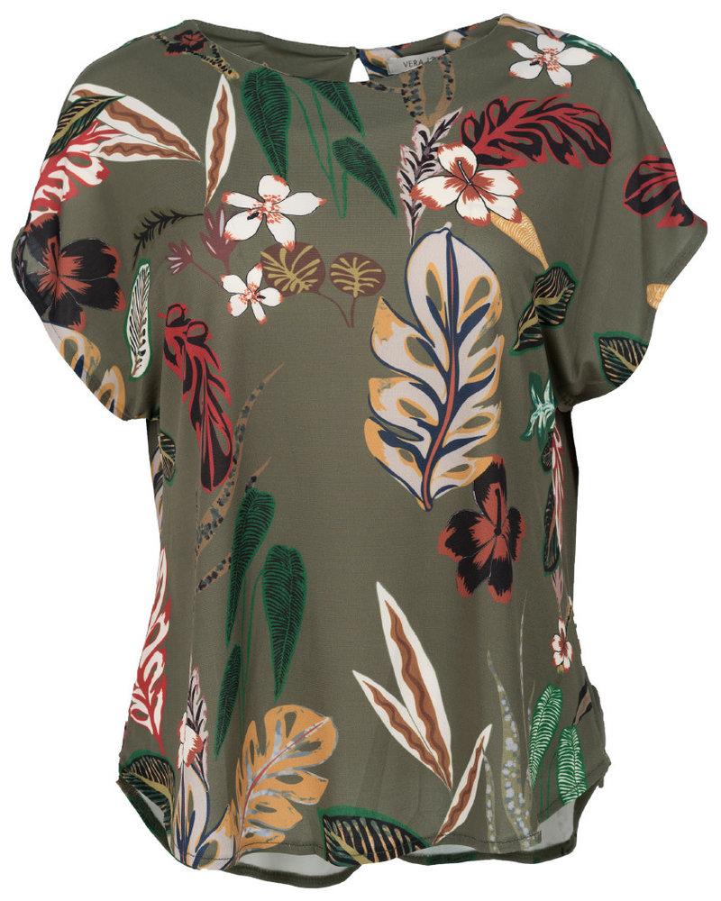 Gemma Ricceri Shirt Fancy groen/zwart